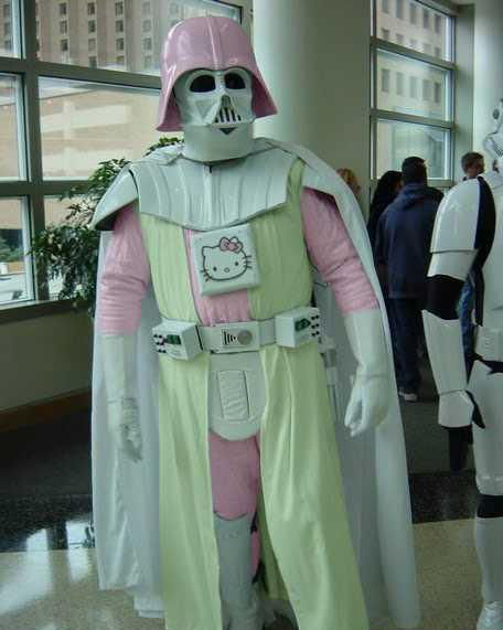 """Hello Kitty Vader Will Probably Just Give You a Force Neck Massage"""