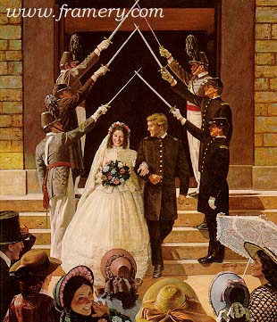 Civil War wedding