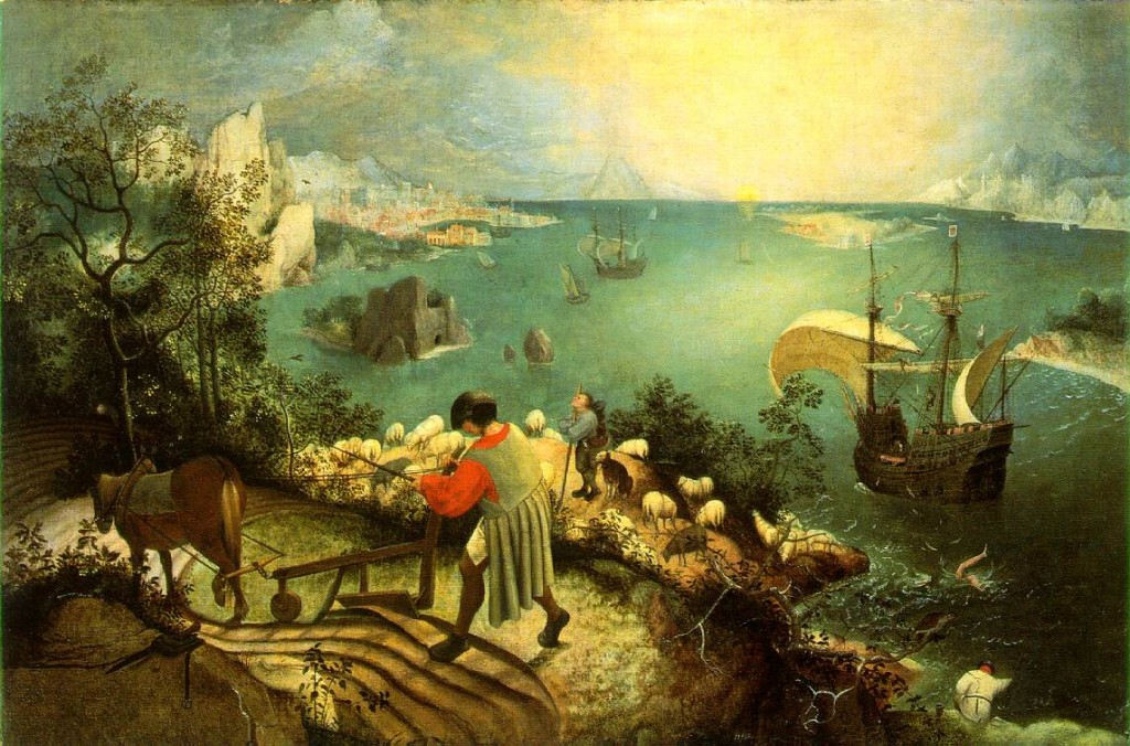 The past with the clarity and beauty of a Bruegel's landscape